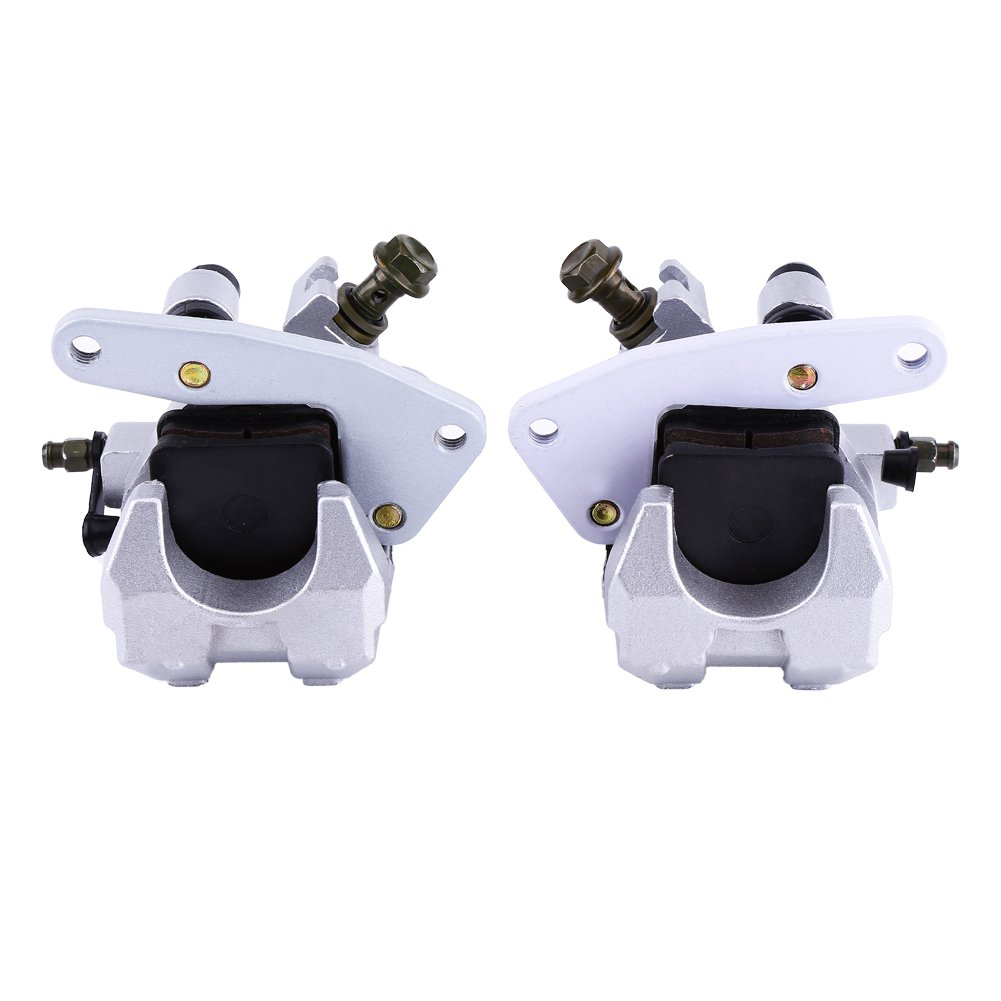 Qiilu ATV Front Brake Caliper Set For Yamaha Banshee Big Bear Bruin Grizzly Raptor 350 Warrior