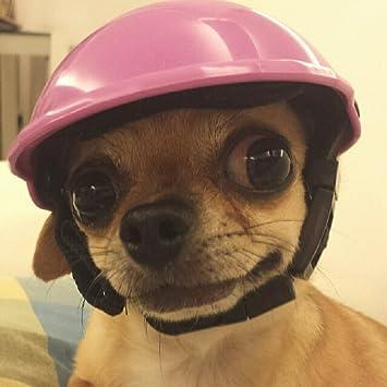 LA VIE Cosplay Casco Moda de ABS para Mascotas Perros Pequeños con un Forro Extraíble Cómodo