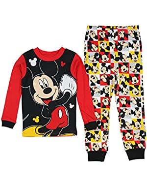 Mickey Mouse Baby / Little Boys 2 Piece Shirt & Pants Pajama Set