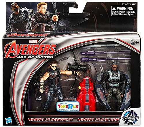 Marvel Avengers Age of Ultron Movie, Exclusive Hawkeye and Falcon Action Figures, 3.75 Inches - Avengers Age Of Ultron Hawkeye