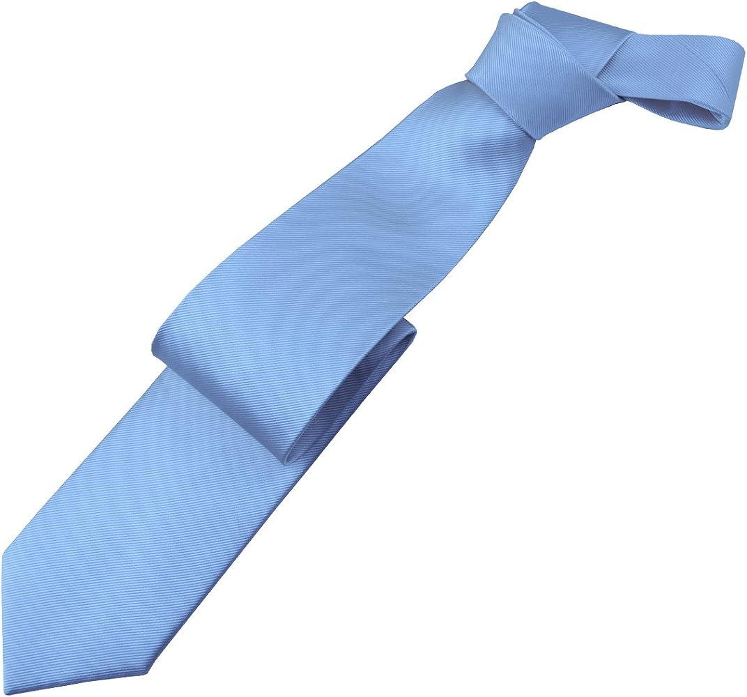 J.PLOENES sobrelongitud de Corbata de Seda Azul Claro, One Size ...