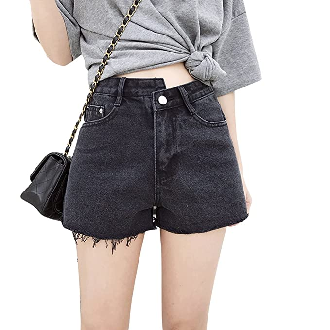 Xinwcanga Donna Vita Alta Vintage Strappati Jeans