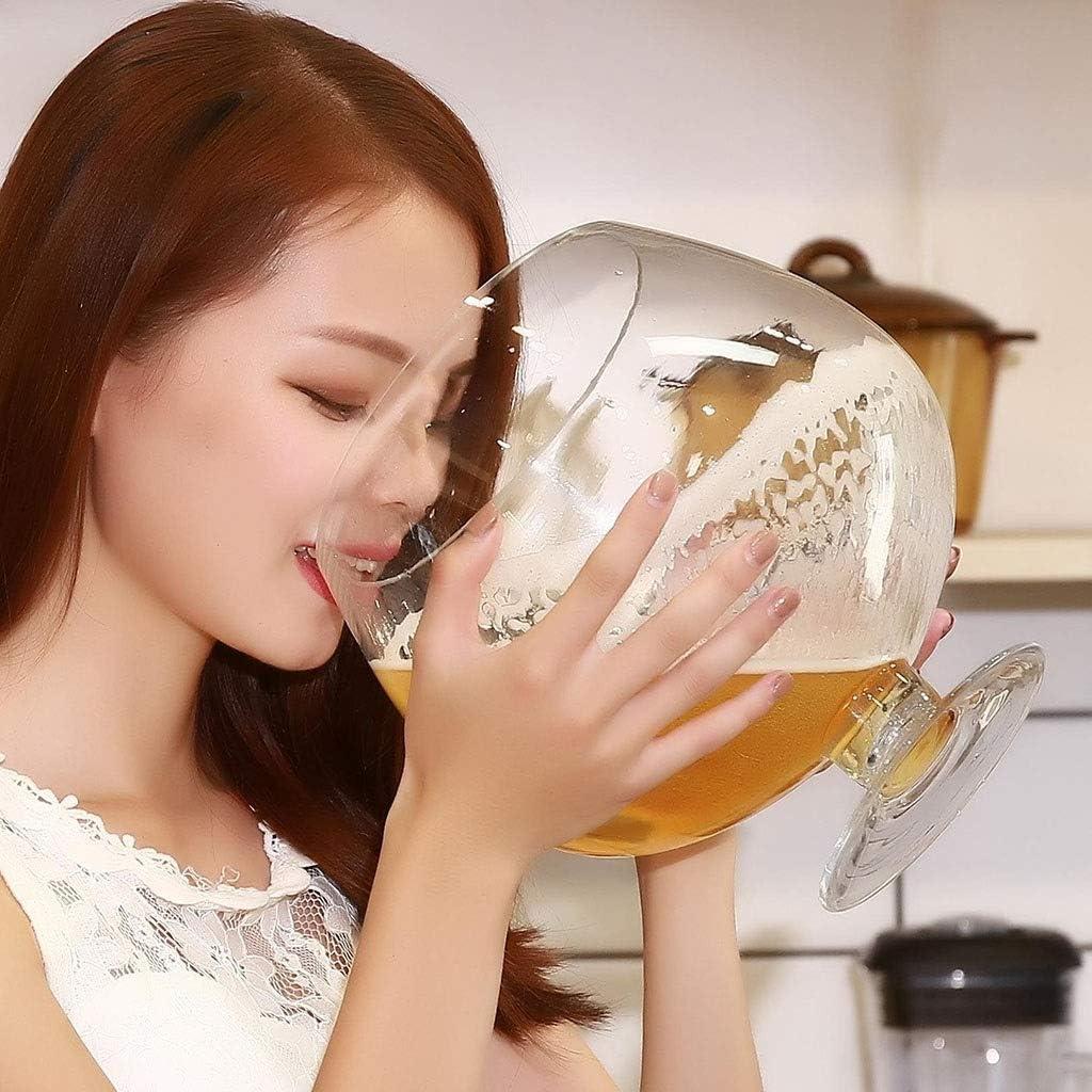 ASDFGH Gran Vino Tinto Vasos de Cristal de Gran tamaño Gigante de la Cerveza Que Bebe Copas Partido de la Barra del Club con Jugo de Whisky for los cumpleaños de Navidad Copas de Vino (Size : 8000ml)