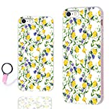 iPhone 5s Case,iPhone 5 case,iPhone SE case,ChiChiC Full Protective Stylish Case Slim Durable Soft TPU Cases Cover for iPhone 5 5g 5s se,Yellow Purple Flower on White Background