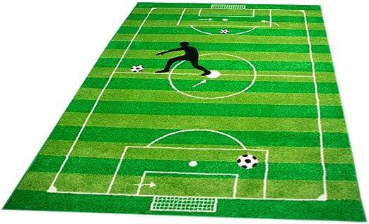 CARPETIA Kinderteppich Spielteppich Jungen Kinderzimmer Teppich Fu/ßball gr/ün Gr/ö/ße 120x170 cm