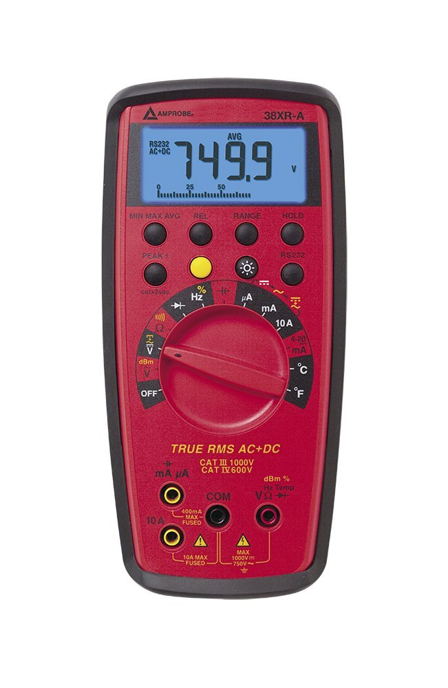 Amprobe 38XR-A TRMS Digital Multimeter with Temperature AMPROBE38XR-A