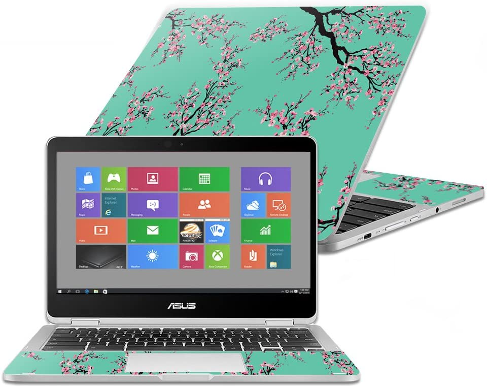 Made in The USA Easy to Apply - Cherry Blossom Tree Remove 2016 MightySkins Skin Compatible with Asus Chromebook Flip C302CA 12.5 Durable and Unique Vinyl Cover Protective