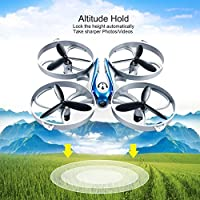 H2 FPV RC Drone with Live Video Wifi Camera,APP control and Gravity Sensor 2.4Ghz 6-Axis Gyro 4 Channels Quadcopter with Altitude Hode RTF Function from HASAKEE