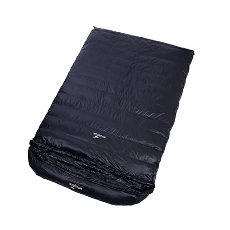 WINGACE -10 Degree Duck Down Double Sleeping Bags,1500g Fill, 3 Season, Envelope, Ultralight, with Compression Sack