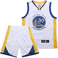 SSRSHDZW NBA Warriors Curry No. 30 - Traje bordado para uniforme de baloncesto (talla XL), color blanco