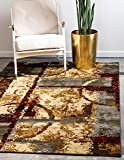 Cheap Unique Loom Barista Collection Abstract Vintage Modern Rustic Warm Multi Area Rug (8′ x 10′)