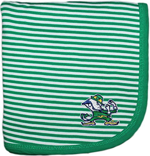 University of Notre Dame Fighting Irish Leprechaun NCAA Baby Blanket 33