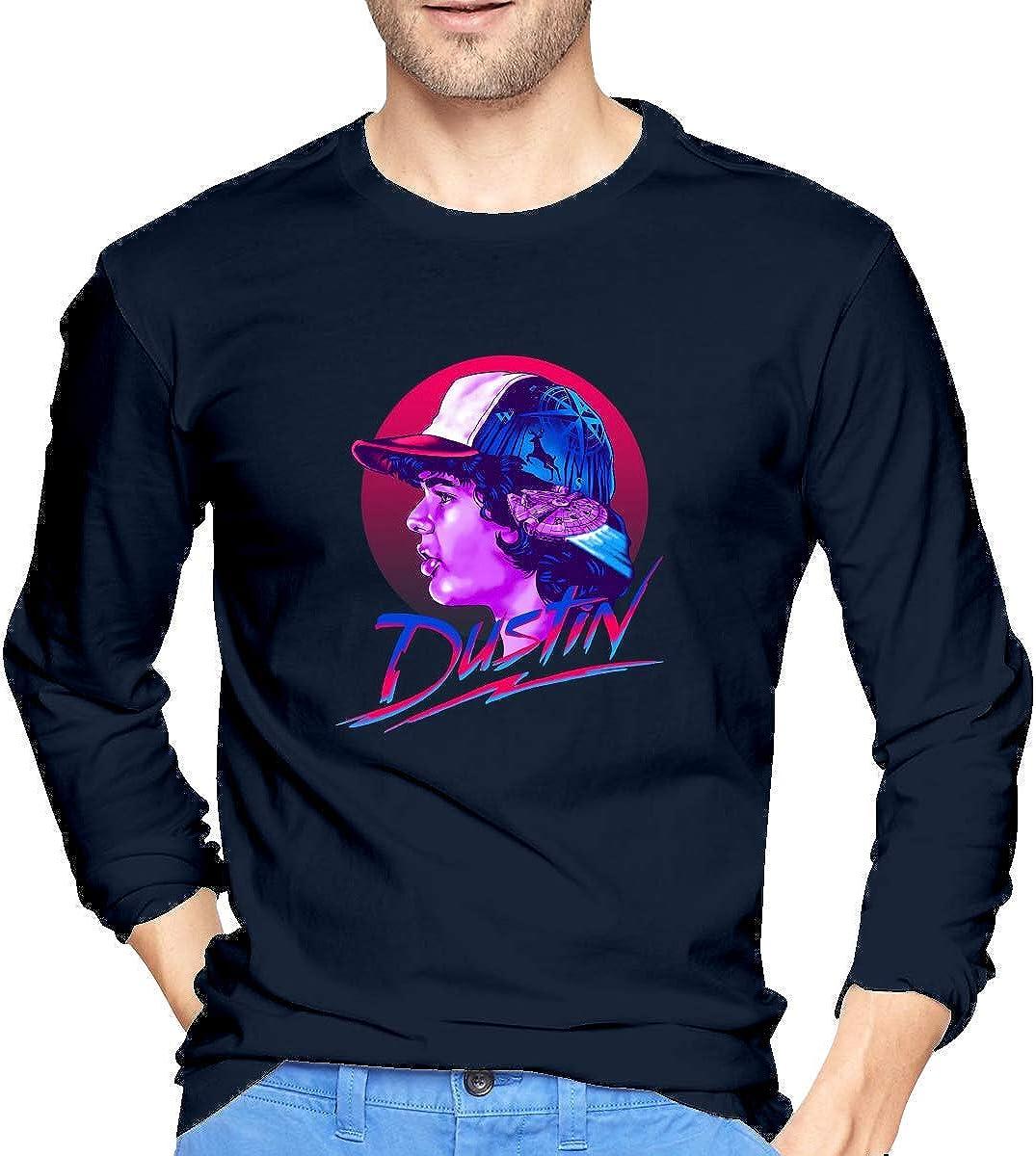 Chelsse Camiseta Manga Larga Mens Dustin Henderson Long ...