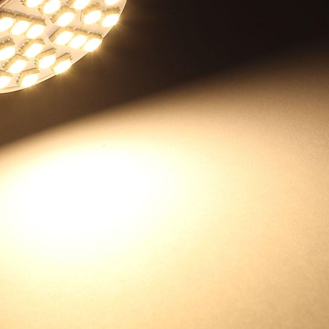 eDealMax MR16 SMD 5050 24 LED 3W 110V AC plástico lámpara ahorro de energía bombilla LED blanco cálido - - Amazon.com