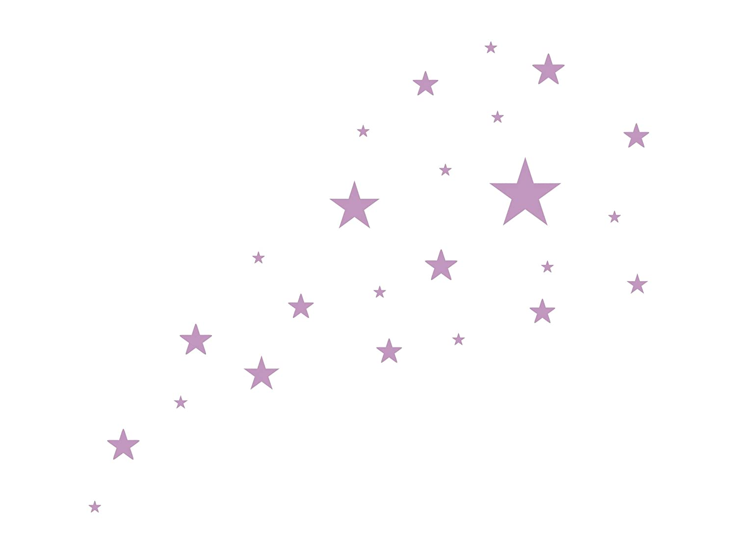 Wandtattooshop (St4S2) Wall Stickers Star Shaped Pack of 24 / 2 - 10 cm wandtattooshop.eu