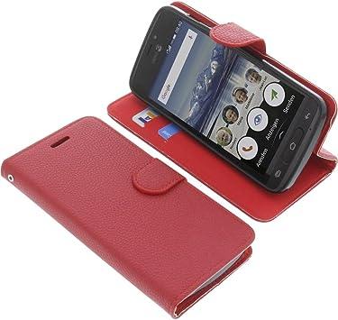 foto-kontor Funda para Doro 8040 Estilo Libro roja Protectora: Amazon.es: Electrónica
