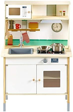 Playland Holzspielküche Kinderküche Küche Spielzeugküche: Amazon.de ...