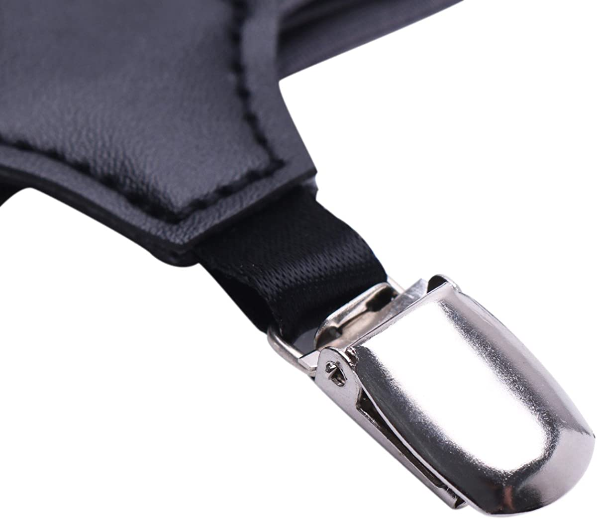 YiZYiF Men Elastic Sock Stays with Non-slip Locking Clamps Suspenders Garters Hold up Braces
