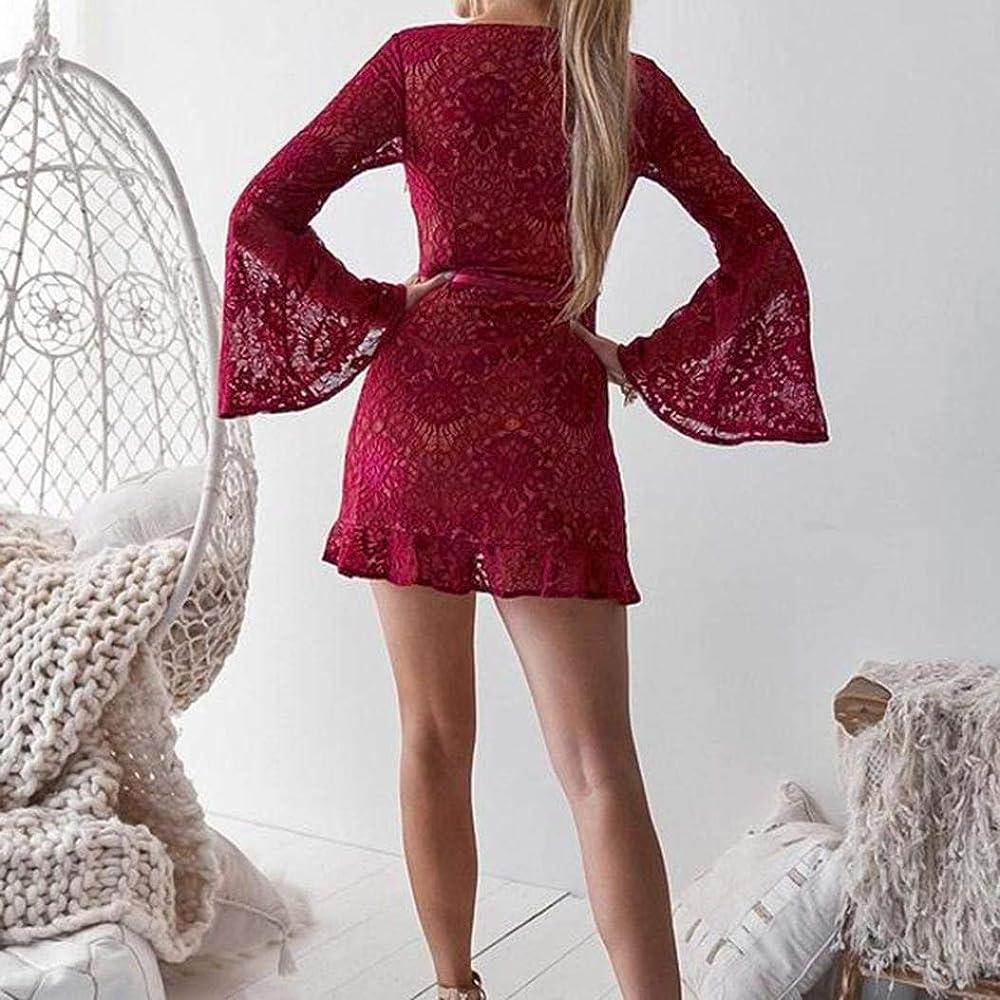 POLP Vestidos Cortos Wine ◉ω◉Sexy Vestidos Mujer Elegantes ...