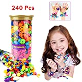 IAMGlobal 240 Pcs Pop Beads, Beads Snap, DIY Jewelry Making Kit, Fashion Kit, Party Favor Toys, Art Crafts Gifts, Educational Toys For Necklace and Bracelet and Rings For Kids Children Girls