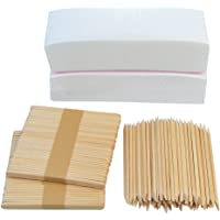 "200 PCS 3""x8"" Waxing Strips Non-woven Wax Strip baotongle Hair Removal Wax Strips and 200 PCS Wax Applicator Sticks"