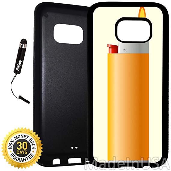 separation shoes 6f956 ebc9d Amazon.com: Custom Galaxy S7 Case (Simple Lighter Art) Edge-to-Edge ...