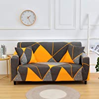 FengRise 4 Seater Cotton Stretch Sofa Slipcover Fashion Geometric Style All-inclusive Stretch Universal Sofa Cover…