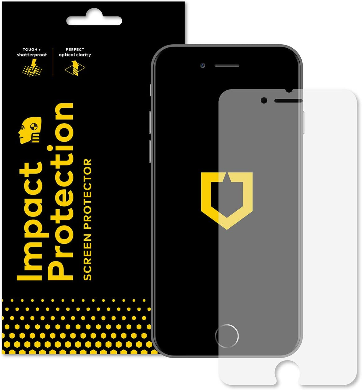 iPhone 8, iPhone 7 Screen Protector [RhinoShield] Bubble Free and Case Friendly Hammer Tested Impact Protection - Clear and Scratch Resistant Screen Protection for iPhone 8/7
