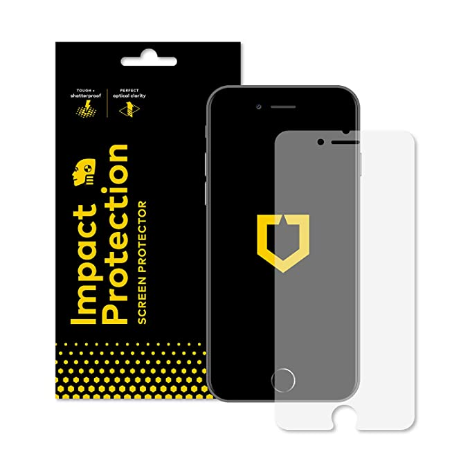 promo code 9b6da aec5a RhinoShield Screen Protector for iPhone 7 Plus/iPhone 8 Plus [Impact  Protection]   Hammer Tested Impact Protection - Clear and Scratch Resistant  ...