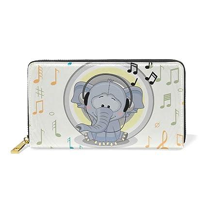 Bebé Elefante Música Arte Monedero Cremallera Billetera de ...