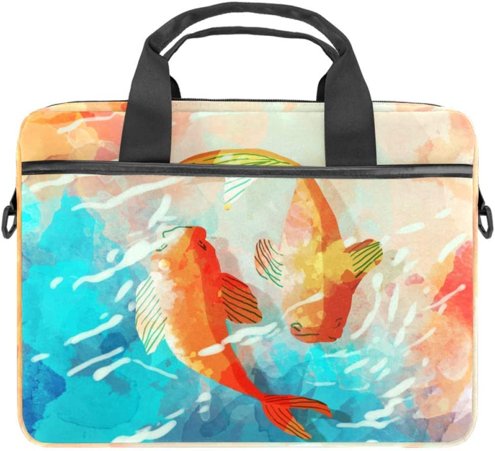 Laptop Carrying Case Gouache and Goldfish Compatible with 13-13.3 inch MacBook Pro, MacBook Air,Notebook Computer 11x15in