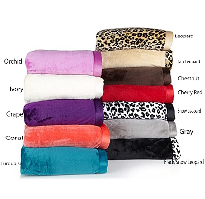Concierge Collection Soft & Cozy Bed Blanket Black/ Leopard or Tan/Leopard Twin Home, Furniture & DIY