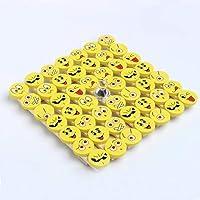 CHSYOO 48 x Emoji Borrador Set, regalo para infantiles party niños cumpleaños fiesta fiesta jardín Navidad Año nuevo…