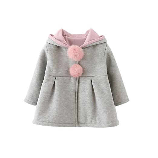 8f5330c68c0 Image Unavailable. Image not available for. Color  Forart Sweet Toddler Girl  Rabbit Ear Coat Kids Baby Winter Outwear ...