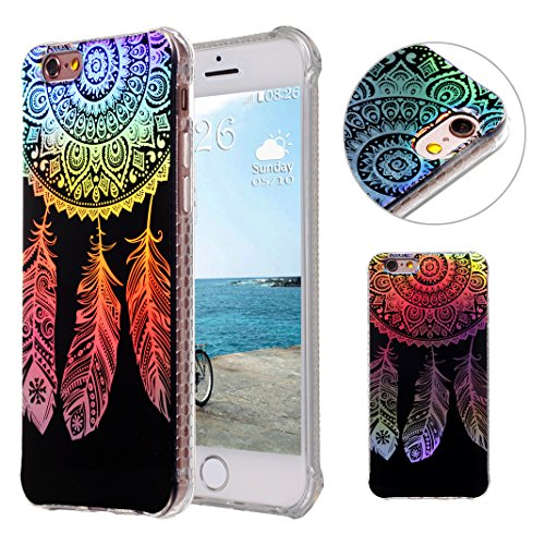 86b67882caa iPhone 6S Plus Funda Transparente, iPhone 6S Plus Funda con Gradiente de  Color, MeiC Power Ultra Delgada Galvanoplastia Patrón Suave TPU Caso de  Plástico ...