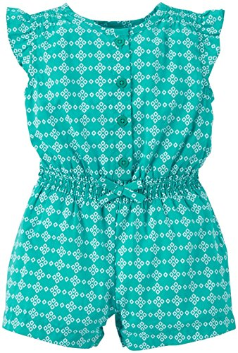 Carter's Baby Girls' Geo Print Romper (Baby) - Turquoise - 6 Months