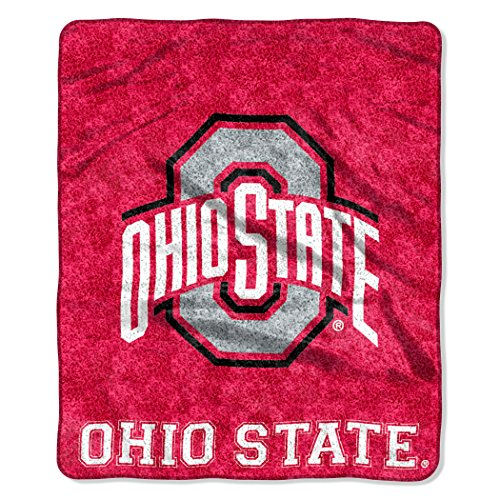 Ohio State Blanket - The Northwest Company NCAA Ohio State Buckeyes 50-Inch-by-60-Inch Sherpa on Sherpa Throw Blanket Jersey Design