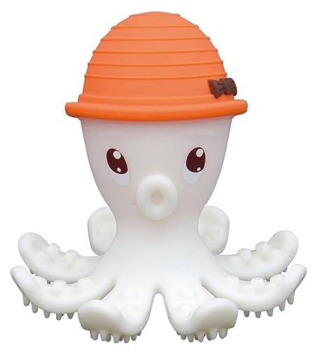 BabyToLove Pulpo 3D - Mordedor, color naranja