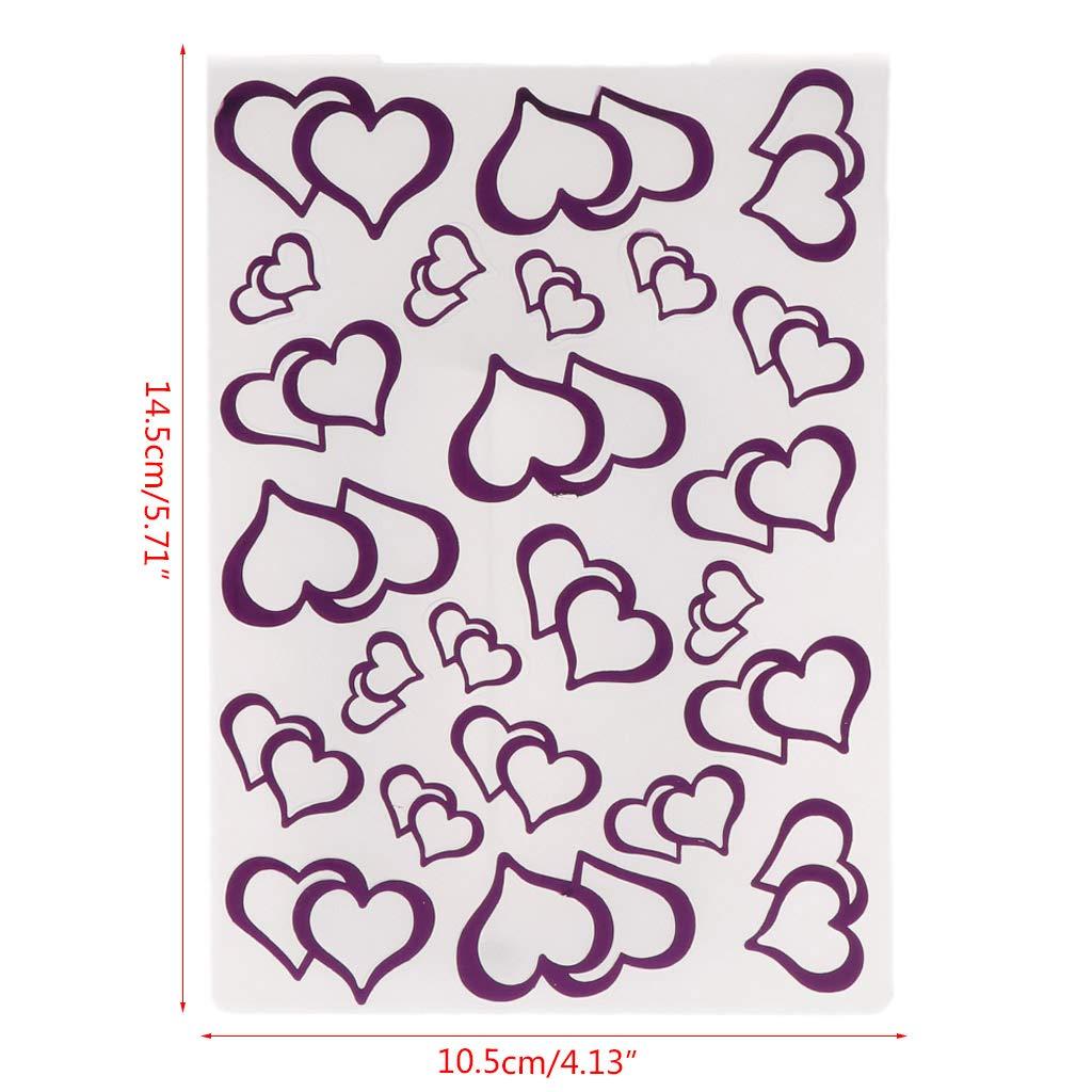 Yubusiness plastica goffratura modello per fai da te scrapbook photo album di carta artigianale doppio cuore modello