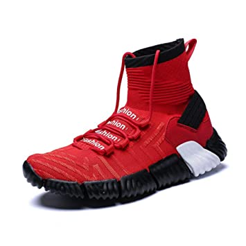 Amazon.com: YaXuan Mens Sport Shoes, 2019 High-top Running Shoes Breathable Men Footwear Trainer Sneakers Wild Running Shoes (Color : Red, ...