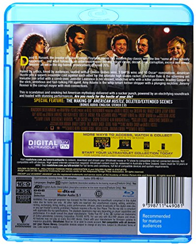 American Hustle | David O. Russell's | Christian Bale, Bradley Cooper | NON-USA Format | Region B Import - Australia