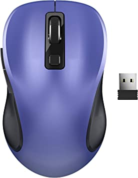 Wireless Mouse TedGem 2.4G Silent Computer Mouse Portable Cordless Mouse Optical USB Mouse Ergonomic Mouse with USB Receiver 6 Buttons 3-Level DPI Laptop Mouse for Windows MacOS PC Laptop