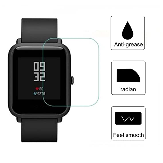 for Xiaomi Huami Watch Screen Protector, Soft TPU HD Clear Smart Watch Screen Protector Film for Xiaomi Huami Amazfit Bip PACE Lite Youth Smart Watch ...