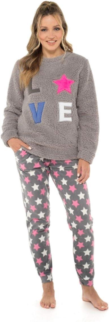 Bras & Honey Conjunto de pijama para mujer, cómodo y suave, pijama para mujer