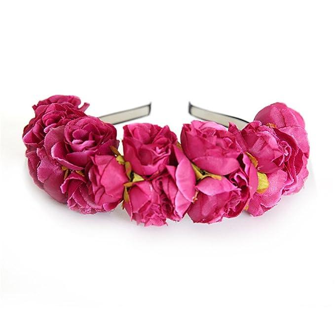 47bb568aa66121 Neu Garland Rose Blumen Haarband Damen Stirnband Kopfband, LEEDY Tanzparty  Party Geschenk Neuheit Blume Muster bedruckt Verdreht Stirnbänder Mädchen  ...