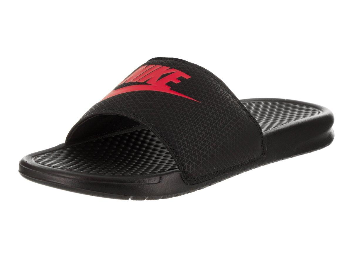 2d21117c8236 Galleon - Nike Men s Benassi JDI Black Challenge Red Sandal 12 Men US