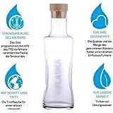 Flaska Karaffe 1l Vodan - Wasserflasche Glasflasche