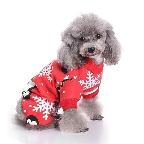 UTOPIAY Traje de Navidad para Mascotas, Ropa de Patrón de ...