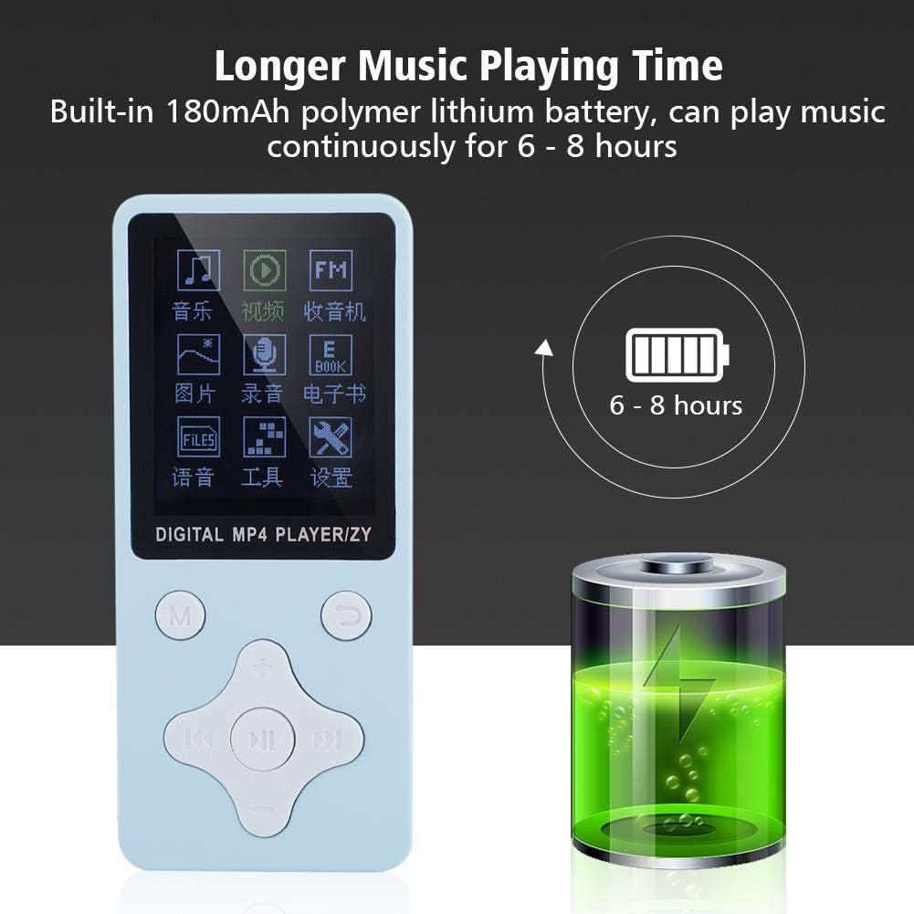 1.8 Zoll Tragbarer HiFi Digitaler MP4 Player Audio Player mit Radio//Recorder//Video//E-Books Schwarz VBESTLIFE MP3 Player Unterst/ützt 32GB TF Card
