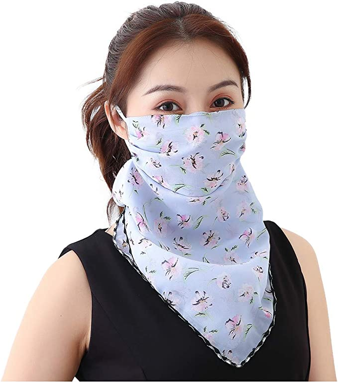 Damen Mundschutz Halstuch Baumwolle Bandana Face Cover Multifunktionstuch Gesichtsmaske Sommer Uv Schutz Atmungsakti Schlauchtuch Von Twbb Bekleidung